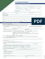 License Registration Form