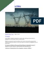 Energ Policy Pakistan 2013-18