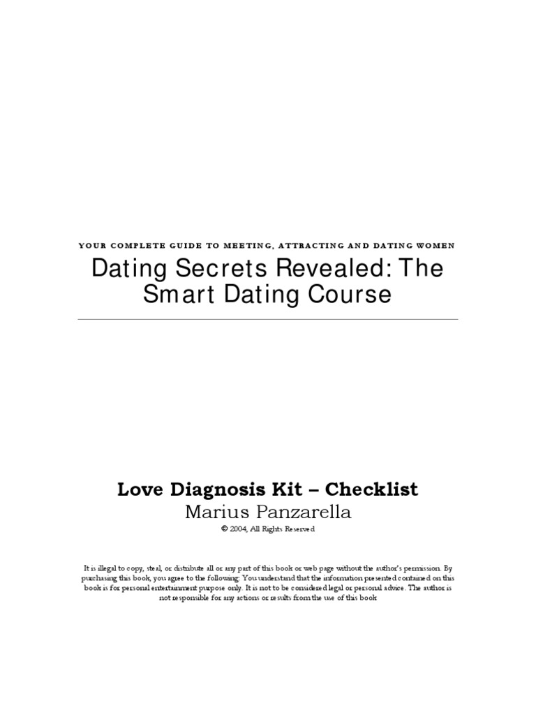 Secrets Revealed Dating Course Dating The Smart
