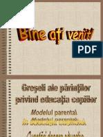 Greseli Ale Parintilor Privind Educatia Copiilor