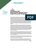 CSPR Appointed New Frieze Art Fair 2007 PR Agency