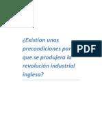 Precondiciones de La Revolucion Industrial Inglesa