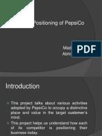 Brand Positioning of PepsiCo