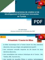 Statégie et mécanismes de création et de développement d'entreprises innovantes en Tunisie