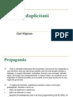 79757341 Politica Duplicitatii Kligman2