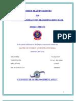 Custmer Satisfaction Regarding HDFC BANK
