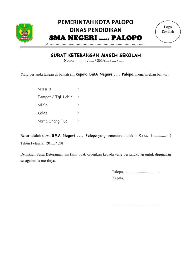 Contoh Surat Rekomendasi Sekolah Just4udakar Com