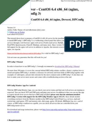 The Perfect Server - CentOS 6 4 x86_64 (Nginx, Dovecot
