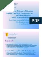 Importancia de Las Publicaciones Cientificas Universitarias Caravedoimppub