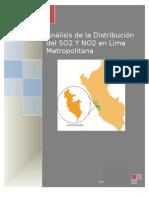Analisis de La Distribucion Del NO2 y SO2 en Lima Metropolitana