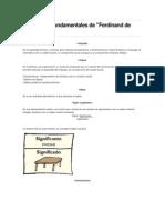 Conceptos Fundamentales de Saussere