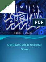 Database Altaf General Store Slides