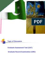 GRE - Graduate Assessment Test