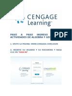 Pasos Para Ingreso a Algebra y Geometria