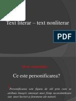 Text literar – text nonliterar