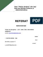78043123 Referat Administratie Si Politici Publice