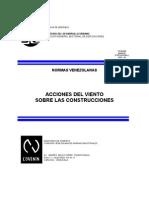 Norma COVENIN - 2003-86 - Acciones Del VIENTO Sobre Las Construcciones