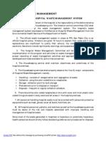 Hospital Waste Management Plan
