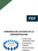 Variables Del Estudio de La Administracion