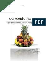 Album Diccionario Frutas