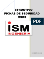 Instructivo Fichas de Seguridad Msds