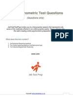 Free Psychometric Test Questions Only