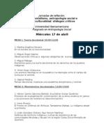Programa Jornadas Alteridad-Ibero.