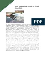 Problemas de Calidad Ambiental en El Ecuador