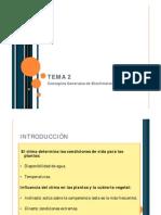 Tema 2 Bioclimatologia
