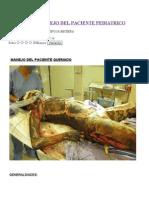 Quemados - Manejo del paciente pediátrico