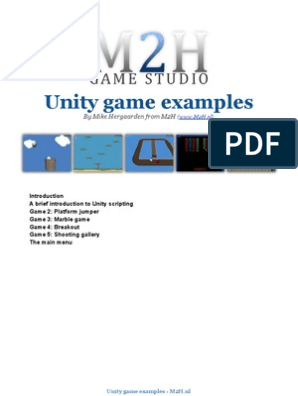 Unity 3d tutorial with Game Examples by M2H | Scripting