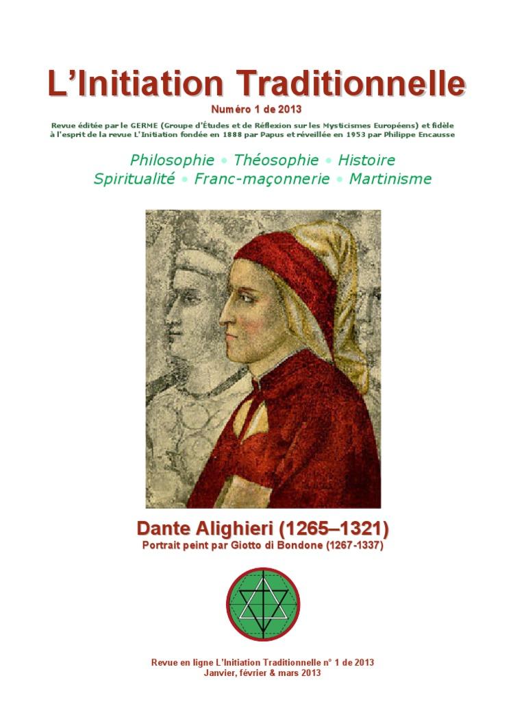 L Initiation Traditionnelle 122 Numero 12   Divine Comédie   Dante ...