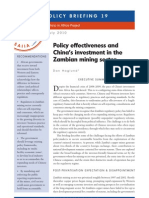 Policy Effectiveness and Chinas Investment in the Zambian Mining Sector (SAIIA_South Africa)