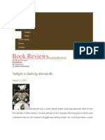 Book Review Twilight in Delhi