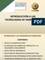 Introducción general a las tecnologías de fabricación