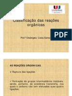 Classificação das reações orgânicas [Modo de Compatibilidade].pdf