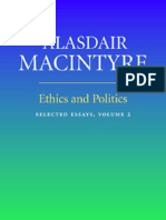 Alasdair MacIntyre Ethics and Politics Volume 2 Selected Essays