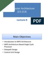 Computer Architecture MIPS Processor Description
