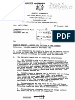 Board of Inquiry - Report Into The Loss of HMS Coventry (1982)