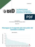 Dougal Martin 2012 Restricciones Al Crecimiento en Nicaragua (BID)