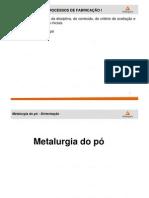 Aula 02 - Metalurgia do pó