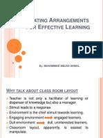 Classroom Arrangments