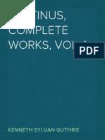 Plotinus, Complete Works, VOL 4  Kenneth Sylvan Guthrie