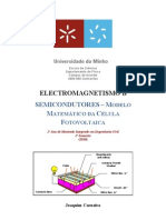 Semicondutores_Modelo matemático da célula fotovoltaica