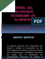 Control Del Crecimiento Microbiano en Alimentos