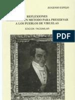 REFLEXIONES SOBRE LAS VIRUELAS. Eugenio Espejo. 1785. (FACSIMIL)
