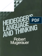 Heidegger's language and Thinking