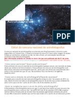 Edital Do Concurso Nacional de Astrofotografias