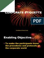Corporate Etiquette Ppt