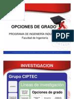 Informacion General Opciones de Grado
